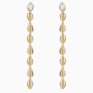 Swarovski Shell earrings, white gold
